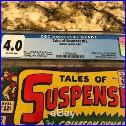 Tales Of Suspense #52 Cgc 4.0 Ow Pgs 1st Black Widow Natasha Romanoff New Movie