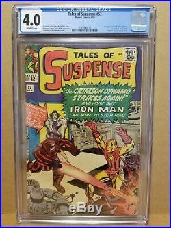 Tales Of Suspense #52 Cgc 4.0 (vg) 1st Black Widow Appearance 1964 Stan Lee