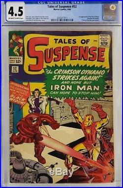 Tales Of Suspense #52 Cgc 4.5 1st Black Widow Movie Coming