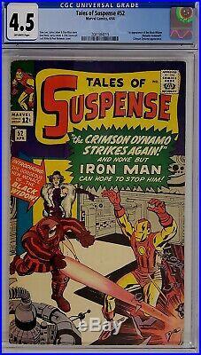 Tales Of Suspense #52 Cgc 4.5 Iron Man 1st Black Widow