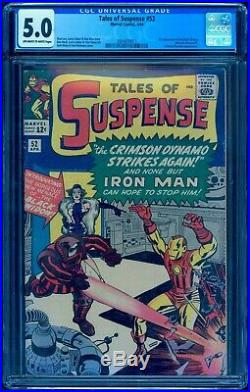 Tales Of Suspense 52 Cgc 5.0 Ow White 1st First Black Widow No Marks Stamps