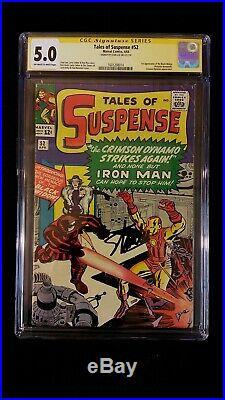 Tales Of Suspense #52 Cgc 5.0 Ss Signed Stan Lee 1st Black Widow Marvel