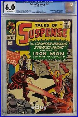 Tales Of Suspense #52 Cgc 6.0 Iron Man 1st Black Widow Marvel Silver Age Mac