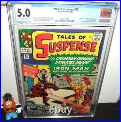 Tales Of Suspense #52 Marvel 1964 Iron Man 1st Appearance Of Black Widow Cgc 5.0