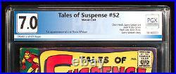 Tales Of Suspense #52 Pgx 7.0. Fn/vf First Black Widow! Htf + Free Cgc