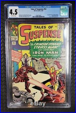 Tales Of Suspense #52 (marvel, 4/64) First Appearance Black Widow! Cgc 4.5 Vg+