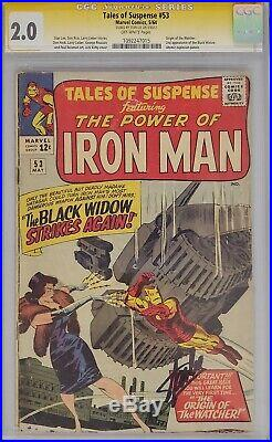 Tales Of Suspense #53 Cgc 2.0 Ss Signed Stan Lee 2nd Black Widow