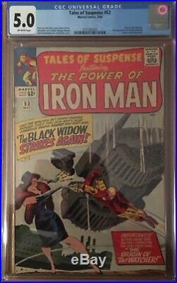 Tales Of Suspense 53 Cgc! 2nd Black Widow Appearance! Movie Coming! See Pics