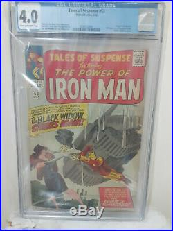 Tales Of Suspense 53 Cgc 4.0 2nd Appearance Of Black Widow (1964)