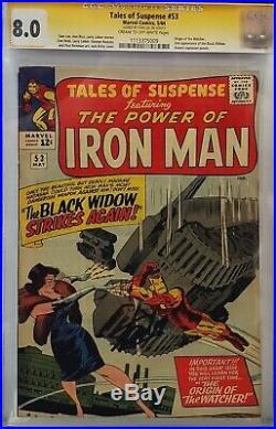 Tales Of Suspense #53 Cgc 8.0 Ss Signed Stan Lee Iron Man 2nd Black Widow