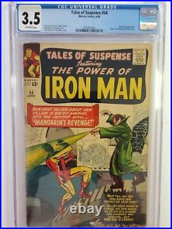Tales Of Suspense #54 (cgc 3.5) 1964 Mandarin Cover & Appearance Silver Age