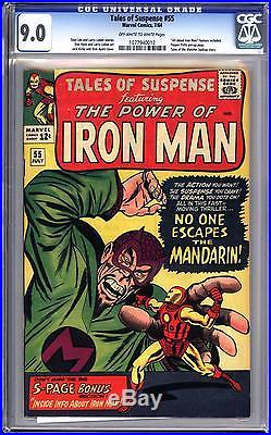 Tales Of Suspense #55 Cgc 9.0 Ow White Pgs All About Iron Man Feature! Pepper
