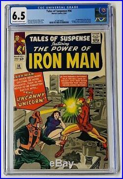 Tales Of Suspense 56 CGC 6.5 IRON MAN 1ST Unicorn AVENGERS FF Marvel Comics