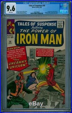 Tales Of Suspense #56 Cgc 9.6 Nm 1964 1st Unicorn Trails 1 9.8 Fantastic Four