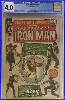 Tales Of Suspense 57 (1st Appearance Of Hawkeye) Marvel 1964 CGC 4.0