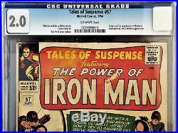 Tales Of Suspense #57 CGC 2.0 1st Hawkeye Story Stan Lee Art Don Heck Iron Man