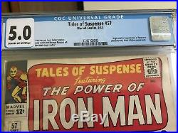 Tales Of Suspense #57 CGC 5.0 Marvel Comics HAWKEYE