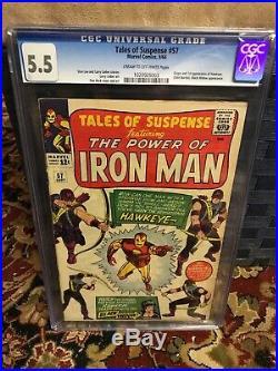 Tales Of Suspense #57 CGC 5.5 Marvel Comics HAWKEYE Not Pressed