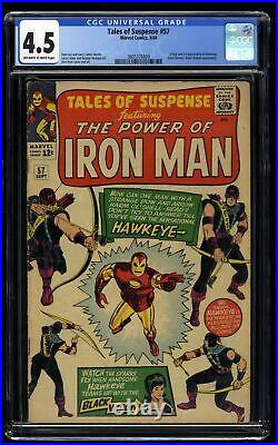 Tales Of Suspense #57 CGC VG+ 4.5 Off White to White 1st Hawkeye