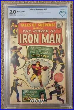 Tales Of Suspense #57 Cbcs 2.0 1st Hawkeye! Huge Key Issue! Not Cgc