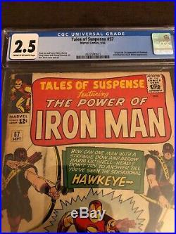 Tales Of Suspense #57 Cgc 2.5! C-o/w! 1st Appearance / Origin Hawkeye! Key