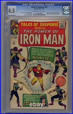 Tales Of Suspense #57 Cgc 4.5 Origin & 1st Hawkeye