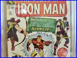 Tales Of Suspense #57 Cgc 4.5 (vg+ White) Origin & 1st Hawkeye Appearance 1964