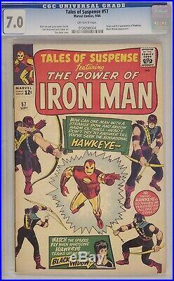 Tales Of Suspense #57 Cgc 7.0 Iron Man 1st Hawkeye