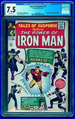 Tales Of Suspense 57 Cgc 7.5 1st First Hawkeye See Our 52 First Black Widow