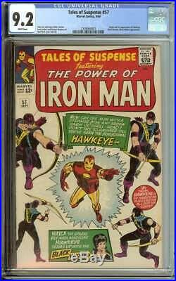 Tales Of Suspense #57 Cgc 9.2 White Pages