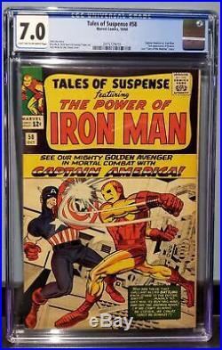 Tales Of Suspense #58 (1964) Cgc 7.0 Captain America Vs Iron Man 2nd App Kraven
