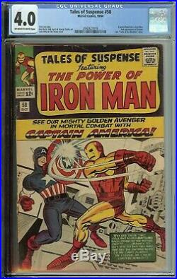 Tales Of Suspense #58 Cgc 4.0 Captain America Vs Iron Man 2nd App Kraven