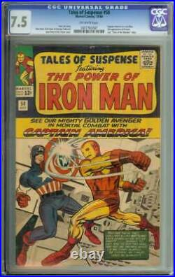 Tales Of Suspense #58 Cgc 7.5 Ow Pages