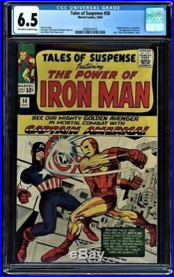 Tales Of Suspense #58 Oww Cgc 6.5 1st Cap In Own Title 2nd App Kraven 0930141010