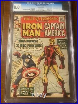 Tales Of Suspense #59 11/64 Cgc 8.0 Ow Iconic Captain America Iron Man Cover