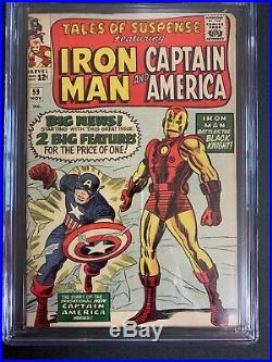 Tales Of Suspense #59 (1964) CGC 6.5 1st Iron Man/Captain America Dbl Feature