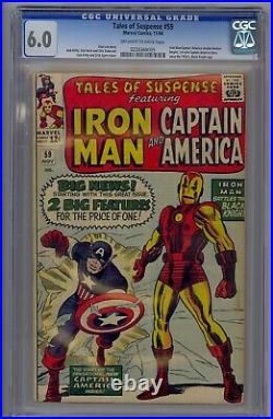 Tales Of Suspense #59 Cgc 6.0 1st Solo Captain Story Since 1950