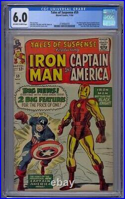 Tales Of Suspense #59 Cgc 6.0 1st Solo Captain Story Since 1950 (3018)