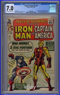 Tales Of Suspense #59 Cgc 7.0 1st Solo Captain Story Since 1950