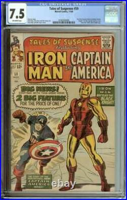 Tales Of Suspense #59 Cgc 7.5 Ow Pages