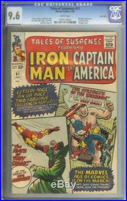 Tales Of Suspense #61 Cgc 9.6 White Pages Twin Cities
