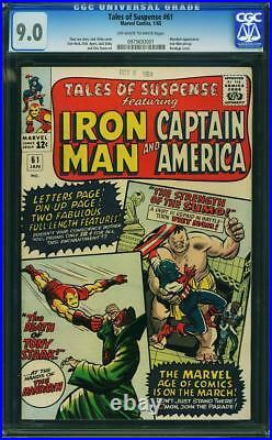 Tales Of Suspense # 61 Us Marvel 1964 Iron Man Mandarin Cgc 9.0 Vfn-nm