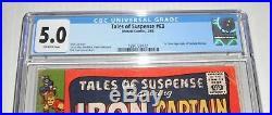 Tales Of Suspense # 63. CGC Universal slab 5.0 grade-fx. 1965 comic. Origin