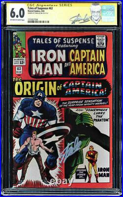 Tales Of Suspense #63 Cgc 6.0 Oww Ss Stan Lee's Label Signed Cgc #1203827006