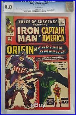 Tales Of Suspense #63 Cgc 9.0 1st Silver Age Origin Captain America Iron Man