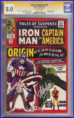 Tales Of Suspense 63 Cgc Ss 8.0 Captain America Origin Iron Man Stan Lee Rare