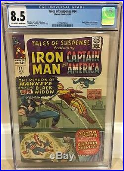 Tales Of Suspense #64 Cgc 8.5 Black Widow Dons Costume Hawkeye Appearance