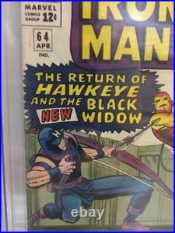 Tales Of Suspense #64 Cgc 9.0 Black Widow Dons Costume New Movie Mcu Stan Lee