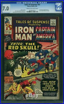 Tales Of Suspense 65 Cgc 7.0 Cow 1st Silverage Red Skull