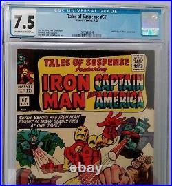 Tales Of Suspense 67 Cgc 7.5 Iron Man Captain America Hitler Red Skull Silverage